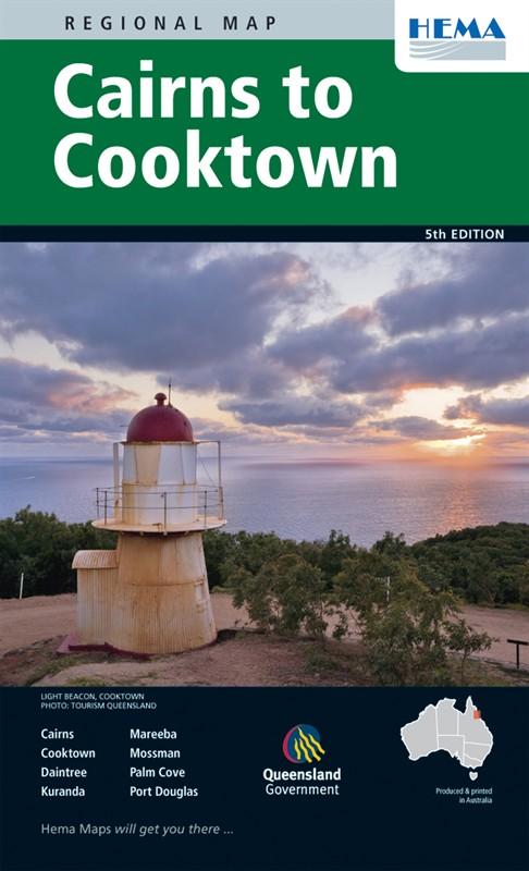cairns to cooktown hema regional map 9781865002262