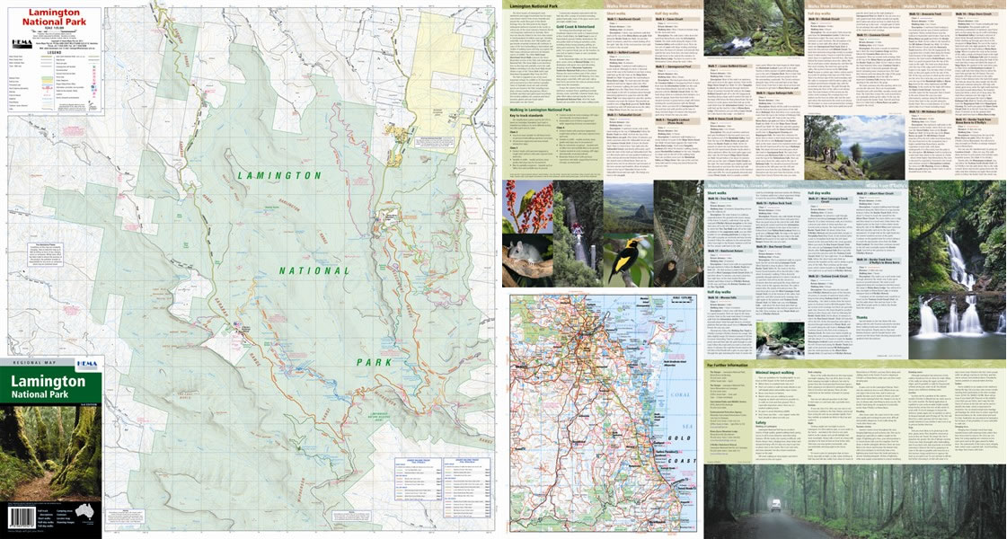 lamington national park map Lamington national park includes two sections, green mountains in an area called o'reilly and binna burra the park is part of gondwana rainforests of australia world heritage area and features extensive walking tracks, remote bushwalking, camping, guided tours and talks, picnic and day-use.