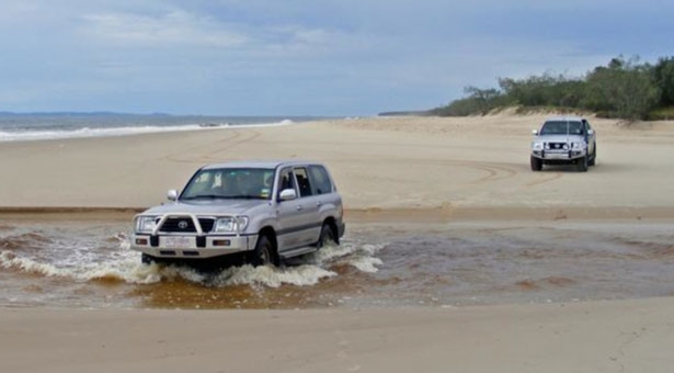 Bribie Island Driving On Beach