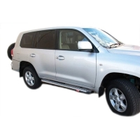 Steel Side Step & Rail Suitable For Toyota Landcruiser