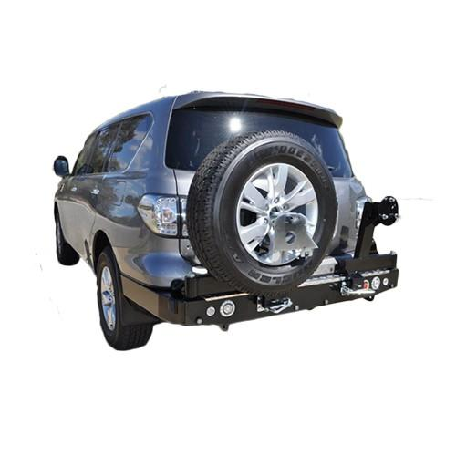 Twin Wheel Carrier Rear Bar Suitable for Nissan Patrol