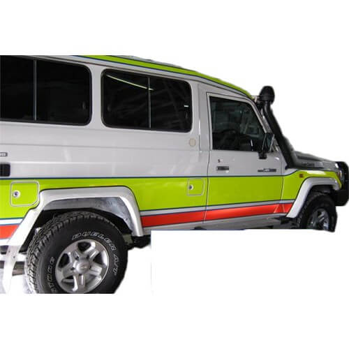 Factory Style Flares Suitable for Toyota 70 Series Landcruiser Troopcarrier VDJ78 Series