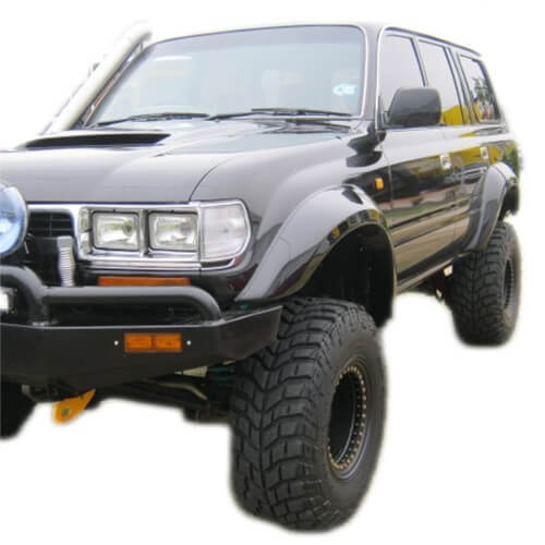 125mm Factory Style Wide Flares Suitable for Toyota 80 Series Landcruiser