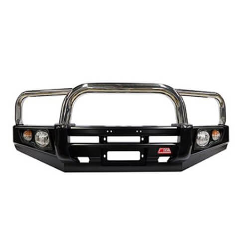 Falcon Stainless Triple Loop Front Bar Suitable For Nissan Navara D40 RX, ST-R 09/2005-02/2015 Groove Bumper