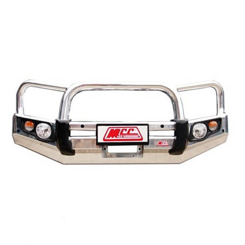 Alloy Falcon Triple Loop Front Bar Suitable For Nissan Navara D40 RX, ST-R 09/2005-02/2015 Groove Bumper