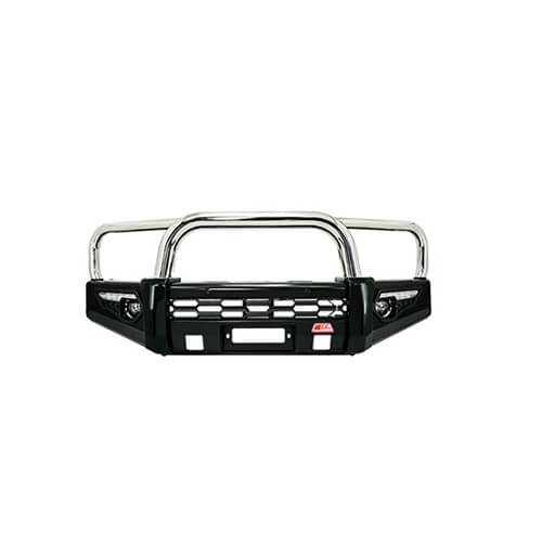 Phoenix Stainless Triple Loop Front Bar Suitable for Nissan Navara D40 RX, ST-R 09/2005-02/2015 Groove Bumper