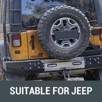 Rear Bars & Tyre Carriers Suitable for Jeep